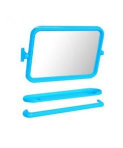 กระจกชุด 3 ชิ้นแบบเหลี่ยม สีฟ้า EMA-01