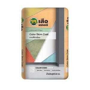 เสือเดคอร์ Color Skim Coat ฉาบแต่งผิวเรียบ WH01