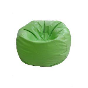 Beanbag ทรงกลม ไซร์ M หนัง PVC สีเขียวตอง