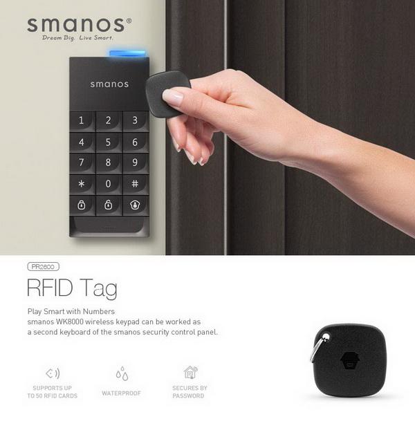 คีย์การ์ด Smanos PR2600 (RFID Tag)