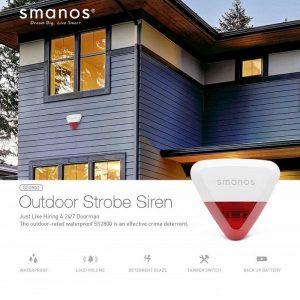 ไซเรนกันขโมย สำหรับติดนอกบ้าน Smanos SS2800