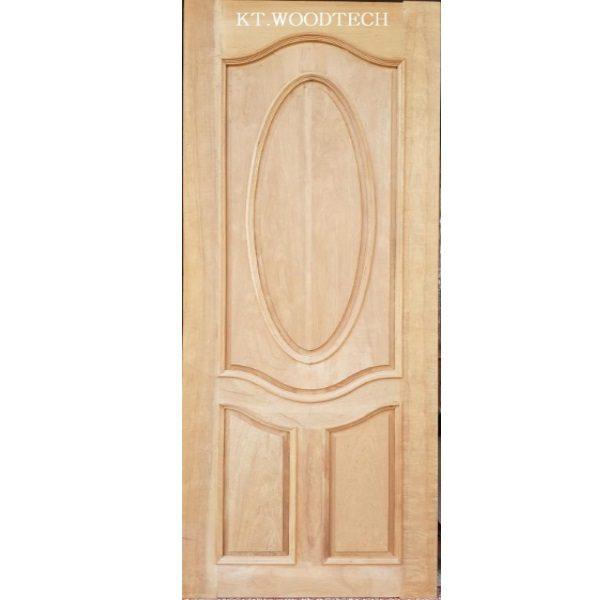ประตูไม้ตะแบก คิ้วเสริมทั้งบาน