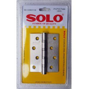 บานพับ SOLO 4นิ้วx3นิ้วx2.5mm แพ็ค3ตัว