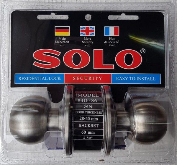 ลูกบิด ทั่วไป SOLO 94D-86 หัวกลม SS