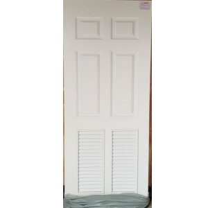 ประตูUpvc Vinyl รุ่นREVOแบบบานเกล็ด PLR-003