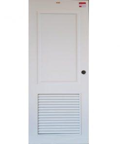 ประตูUpvc (Vinyl) รุ่นREVOแบบบานเกล็ด PLR-004