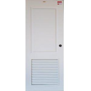 ประตูUpvc Vinyl รุ่นREVOแบบบานเกล็ด PLR-004