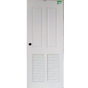 ประตูUpvc (Vinyl) รุ่นREVOแบบบานเกล็ด PLR-005