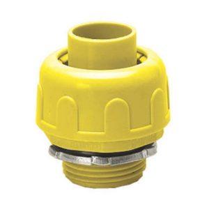ข้อต่อตรงลูกฟูก พีวีซี เอสซีจี ระบบร้อยสายไฟ สีเหลือง