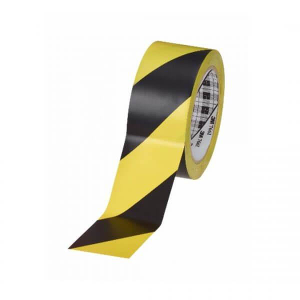 3M T76 เทปไวนิลตีเส้นพื้น สีเหลือง ดำ