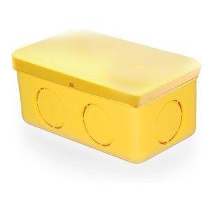 ข้อต่อกล่องพักสายสี่เหลี่ยม-4x2-พีวีซี-เอสซีจี-ระบบร้อยสายไฟ-สีเหลือง-15-18-20-มม