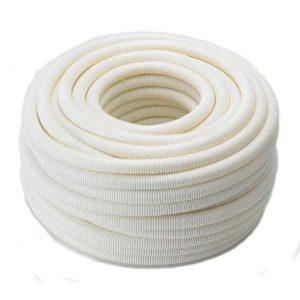 ท่อลูกฟูกพีวีซี เอสซีจี ระบบร้อยสายไฟ สีขาว (มาตรฐาน BS)