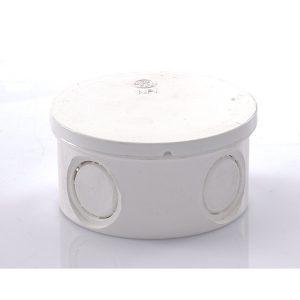ข้อต่อกล่องพักสายกลม พีวีซี เอสซีจี ระบบร้อยสายไฟ สีขาว (มาตรฐาน JIS)