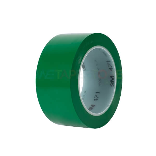 3M 471 Green เทปไวนิลตีเส้นพื้น สีเขียว ขนาด 72mm x 33m