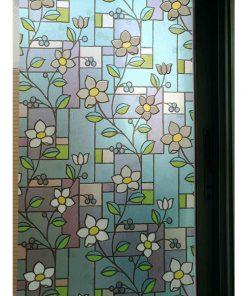 สติกเกอร์ติดกระจก ลายดอกไม้