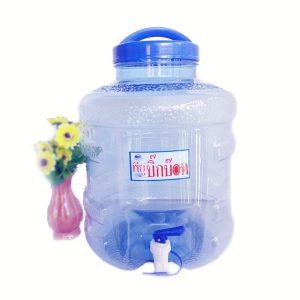 ถังน้ำดื่ม PET 12 ลิตร มีก๊อก