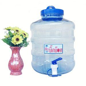 ถังน้ำดื่ม PET 8 ลิตร มีก๊อก