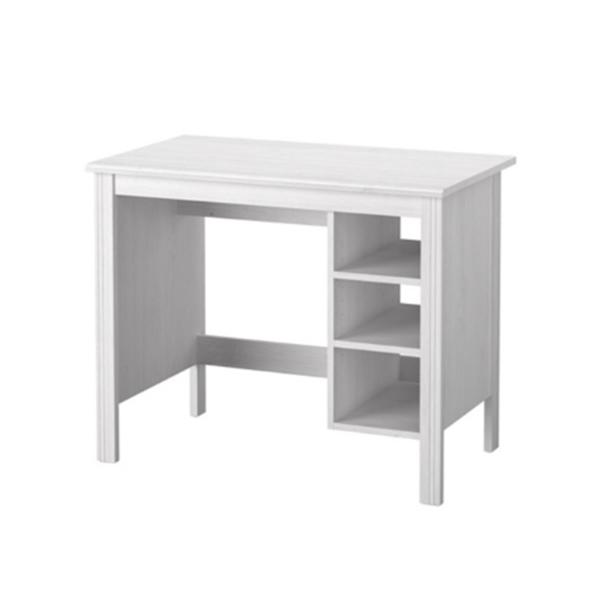 โต๊ะทำงาน สีขาว งานไม้พาร์ติเคิลบอร์ดเกรดพรีเมี่ยม