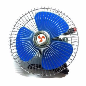 พัดลมติดรถยนต์ สีน้ำเงิน
