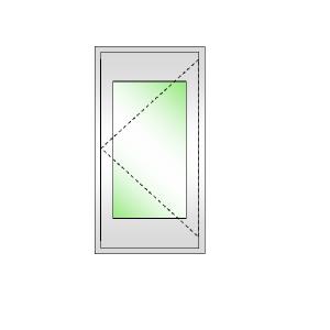 DREAMWORKS หน้าต่างบานเปิดเดี่ยวขวา ขนาด 600x1100 มม.พร้อมมุ้งลวด