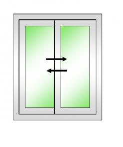 DREAMWORKS หน้าต่างบานเลื่อนคู่(เลื่อนสลับ) ขนาด 1500x1100 มม.พร้อมมุ้งลวด