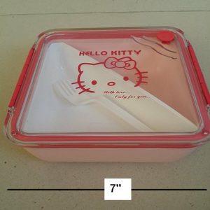 กล่องข้าว ลาย คิตตี้ Kitty ขนาด 7x7x2.5 นิ้ว