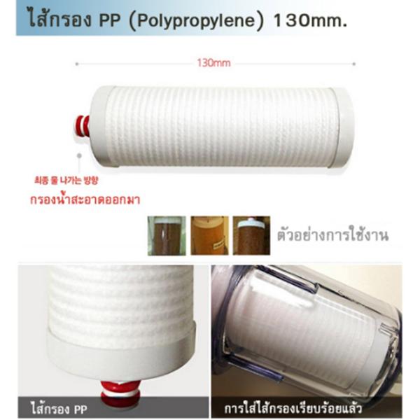 ไส้กรอง PP (Polypropylene) 130 Mm.