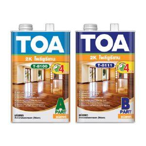 TOA Polyurethane 2K T8100-T8111 ชนิดเงา สำหรับภายใน