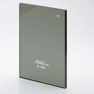 หลังคาอะคริลิก Shinkolite สีเขียวN590 รุ่นHeat Cut Sheet