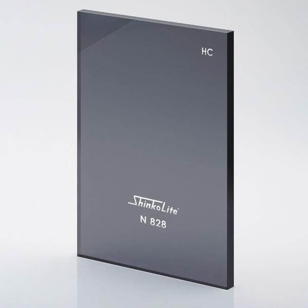 หลังคาอะคริลิก Shinkolite สีเทาN828 รุ่นHeat Cut Sheet