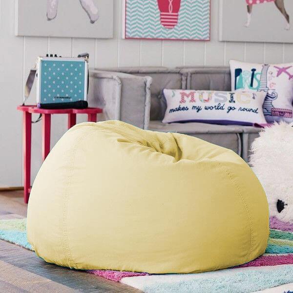 BeanBag Chair ทรงกลม หยดน้ำ canvas สีพื้น สี21
