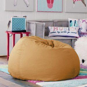 BeanBag Chair ทรงกลม หยดน้ำ canvas สีพื้น สี43