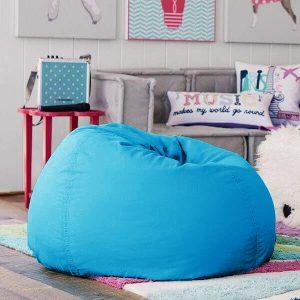 BeanBag Chair ทรงกลม หยดน้ำ canvas สีพื้น สี49