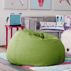 BeanBag Chair ทรงกลม หยดน้ำ canvas สีพื้น สี58