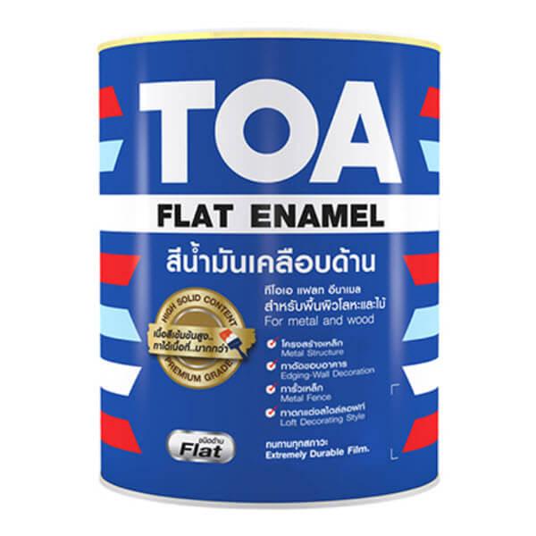 TOA Flat Enamel สีน้ำมันเคลือบด้าน