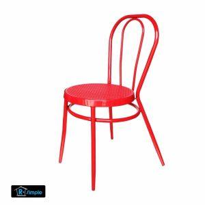 R-SIMPLE เก้าอี้ รับประทานอาหาร รุ่นHONEY สีแดง แพค 4 ตัว