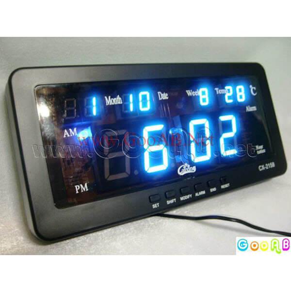 นาฬิกาขนาด 7นิ้ว ไฟสีฟ้า CX2158
