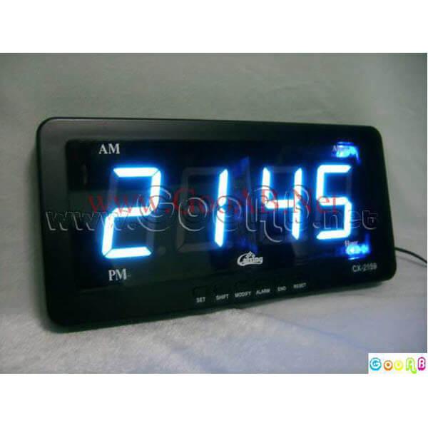 นาฬิกาปลุก LED ไฟสีฟ้า CX2159