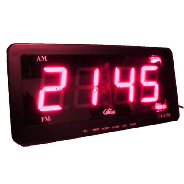 นาฬิกาปลุกLED ขนาด7นิ้ว ไฟสีแดงCX2159