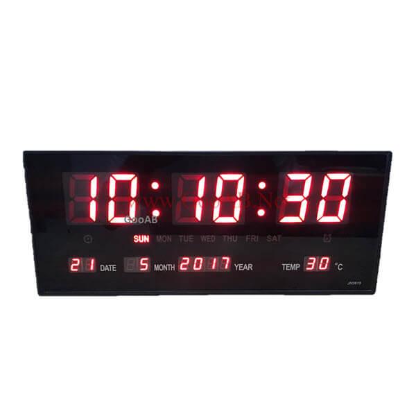 นาฬิกา LED ติดฝาผนังแบบบาง ขนาด15นิ้ว ไฟสีแดง JH3615