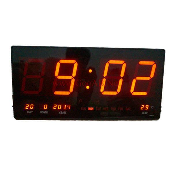 นาฬิกาLEDติดฝาผนังแบบบาง ขนาด18นิ้ว ไฟสีแดง JH4622-4