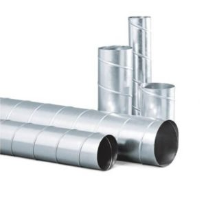 ท่อสังกะสี 4นิ้ว-16นิ้ว SPIRAL DUCT ยาว 1 เมตร