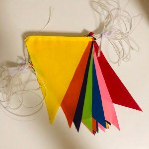 ธงราว7สี เนื้อผ้าโทเล ยาว 15เมตร