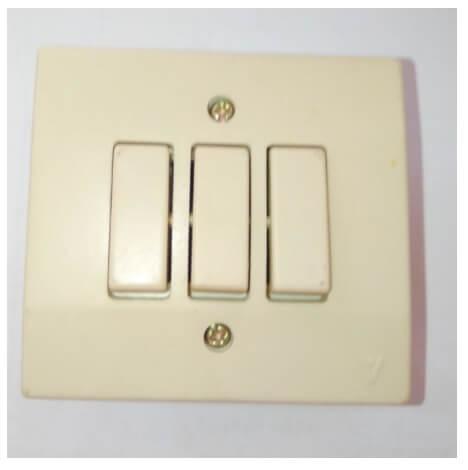Veto Switch สวิทซ์ ปิดเปิด two way 3 ตัววีโต้ วินเทจ รุ่นเก่า 3P รุ่น Oscar 5000 x 1 ชิ้น