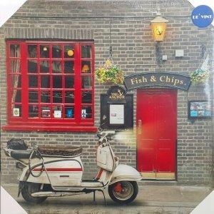 รูปภาพติดผนัง Scooter Fish&Chips London Pub