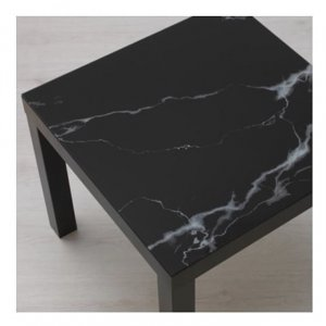 โต๊ะข้างโซฟาลายหินอ่อนดำ