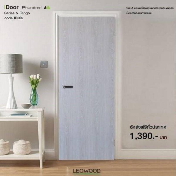 ประตูไม้เมลามีนiDoor S5 บานเรียบ IP5058 Leowood