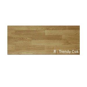 พื้นไม้ลามิเนตลีโอวูด 8x198x1210มม. สี Trendy Oak Leowood