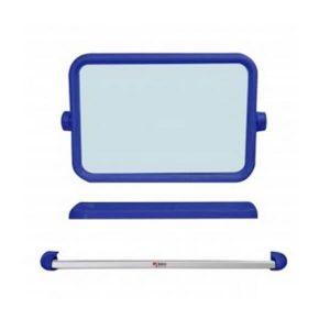 K224 Boss กระจกชุดเหลี่ยม 3ชิ้น สีน้ำเงิน