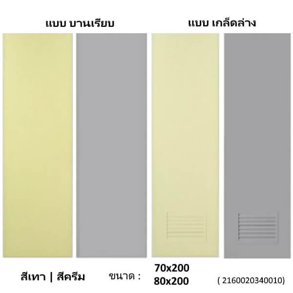 ประตู PVC 80X200 คละแบบ คละสี คละแบนด์